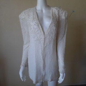 Beaded  Wedding Jacket by Jovani of New York